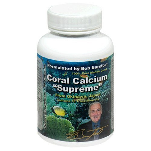 Authentic Robert Barefoot Coral Calcium Supreme, 90 Capsules (Barefoot Coral)