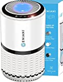 GENIANI Home Air Purifier with True HEPA Filter for Allergies and Pets/Smoke/Mold/Germs
