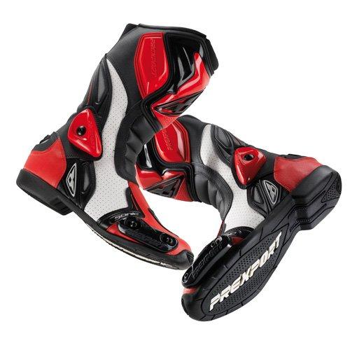 Stivale pelle racing moto Prexport Sonic rosso nero taglia