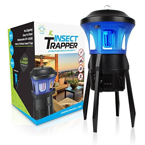 Livin' Well No Zap Mosquito Trap - 3 in 1 Indoor/Outdoor UVA Light Mosquito Trap + Fly Trap Fruit...