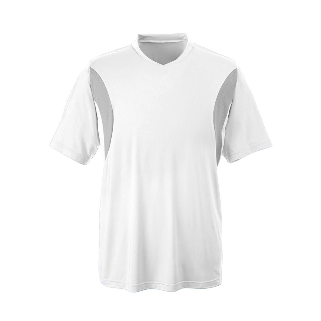 Ash City Apparel Team 365 Mens Short-Sleeve Athletic V-Neck All Sport Jersey (X-Large, White) by Ash City Apparel