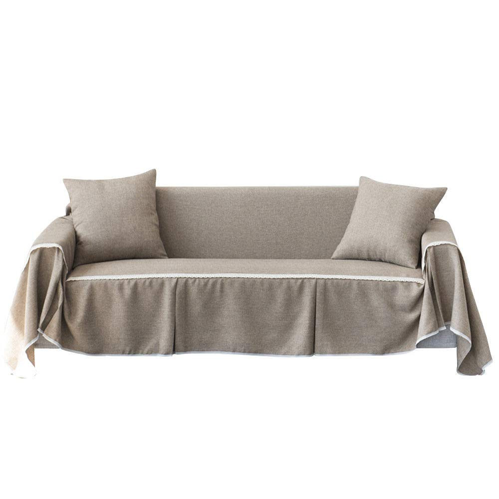Amazon.com: Wowdeal Cotton Linen Blend Slipcover Sofa Cover ...