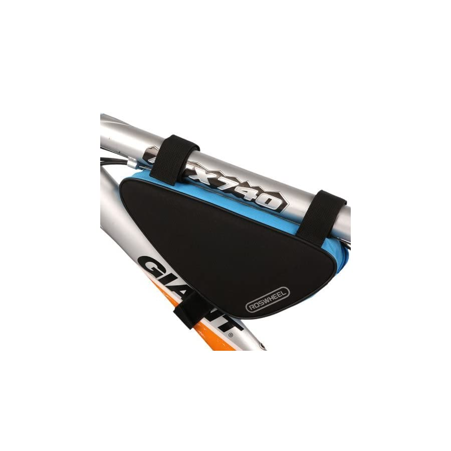 Ellen Tool New Cycling Bicycle Bike Bag Top Tube Triangle Bag Front Saddle Frame Pouch Outdoor blue