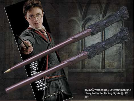 The Noble Collection Harry Potter Wand Pen and Bookmark