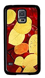 Samsung Galaxy S5 Beautiful Yellow Leaves PC Custom Samsung Galaxy S5 Case Cover Black
