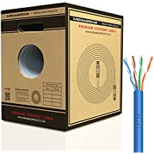 Mediabridge Cat5e Ethernet Cable (500 Feet, Blue) - w/ Convenient Pull-Out Box - UL Listed CM Rated (Part# C5-500-BLUE )