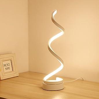 Hm Dx Lampe De Chevet Moderne Lampe De Bureau Led Courbes Lampe De