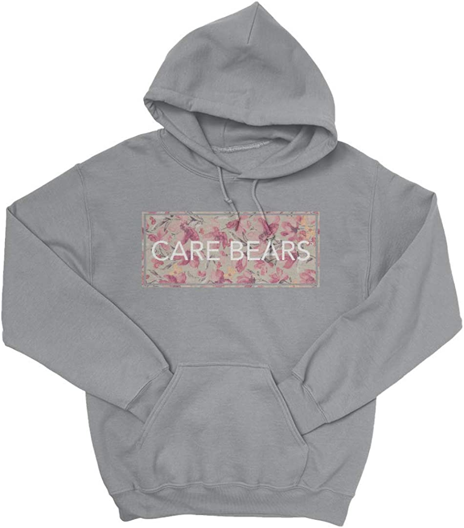 RageOn Care Bears Floral Stamp Pullover Premium All Over Print Oslo Gray Pocket Hoodie