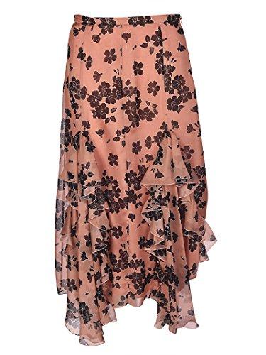 ROWM355801660 Femme Rose Soie Jupe Rochas 5TvA88
