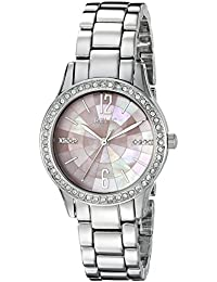 Women's ZR12176 Stacy Silver-Tone Pink Dial Watch