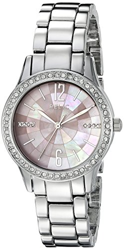 Relic by Fossil Women's Stacy Quartz Metal Dress Watch, Color: Silver (Model: ZR12176)