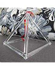 Cosmic Energy Generator/Clear Crystal Singing Pyramid for Sound Healing (8 Inch)