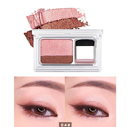 Glitter Two-Tone Printing Eye Shadow Toning Powder is Flexible and Durable - Simple Makeup Natural Makeup (D) - Durable Printing