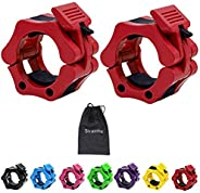 Strainho Olympic Weight Bar Clips - 2 inch Barbell Collars - Quick Release Olympic Barbell Clamp for Weightlif