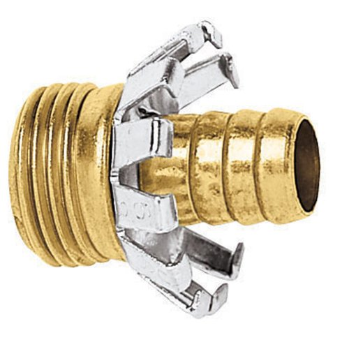 Gilmour Brass Male Hose Mender Clincher Type 5/8in