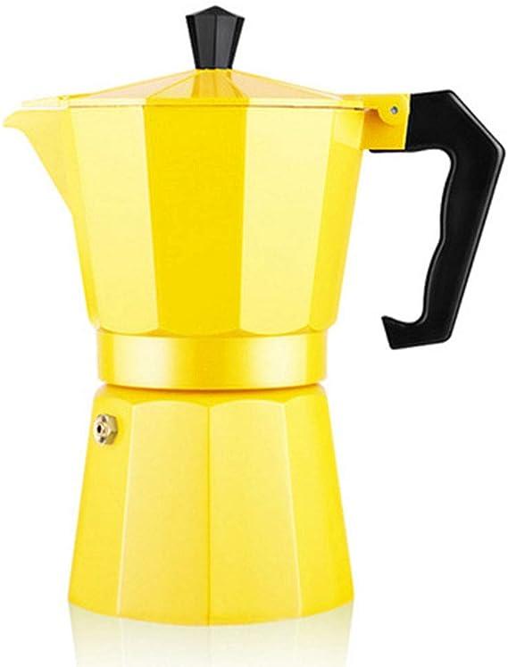 MYYINGELE Cafetera Italiana Moka Cafeteras Espresso Induccion 6 Tazas, Cafetera Italiana de Aluminio, Uso Doméstico y en la Oficina, Yellow: Amazon.es: Deportes y aire libre