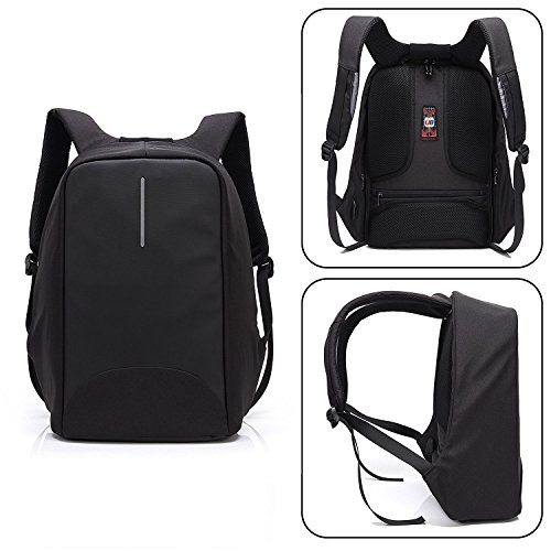 with for Anti Theft Black Perfect Rucksack Backpack Women Charging Men Travel Business Backpack Waterproof Backpack Black Gift 6