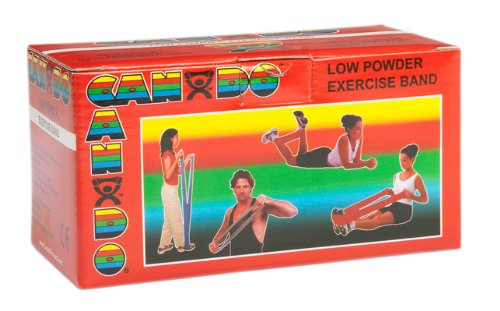 6 Yard Low Powder Exercise Band Size / Color: Light / Red by Cando