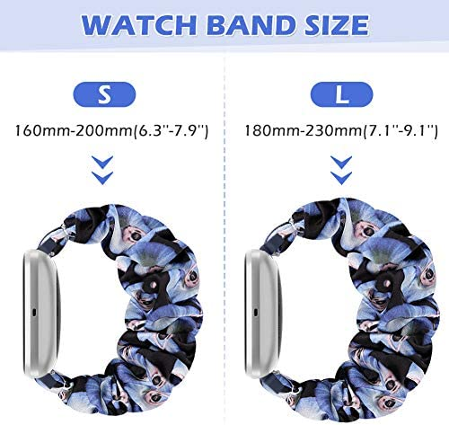 AordKing Scrunchie Watch Band with Versa/Versa 2 / Versa Lite, 23mm Compatible Cute Elastic Wristbands Strap Replacement for Women Girls(L Size, 5 Pack 2) 51DDwnCxDAL
