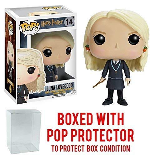 Funko Pop! Movies: Harry Potter - Luna Lovegood #14 Vinyl Figure (Bundled with Pop Box Protector Case) (Ball Weasley Ron Yule)