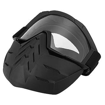 Lixada Motos Gafas UVA400 Protecci/ón Invierno Esqu/í Gafas de Montar Patinaje Gafas Deportivas con M/áscara Desmontable 2, Gris