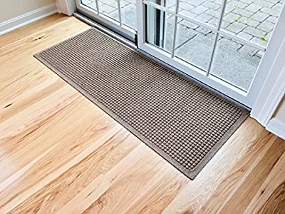 "Andersen 280 WaterHog Fashion Polypropylene Fiber Entrance Indoor/Outdoor Floor Mat, SBR Rubber Backing, Runner 60"" Length x 22"" Width, 3/8"" Thick"