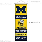 Michigan Wolverines Banner and Scroll Sign