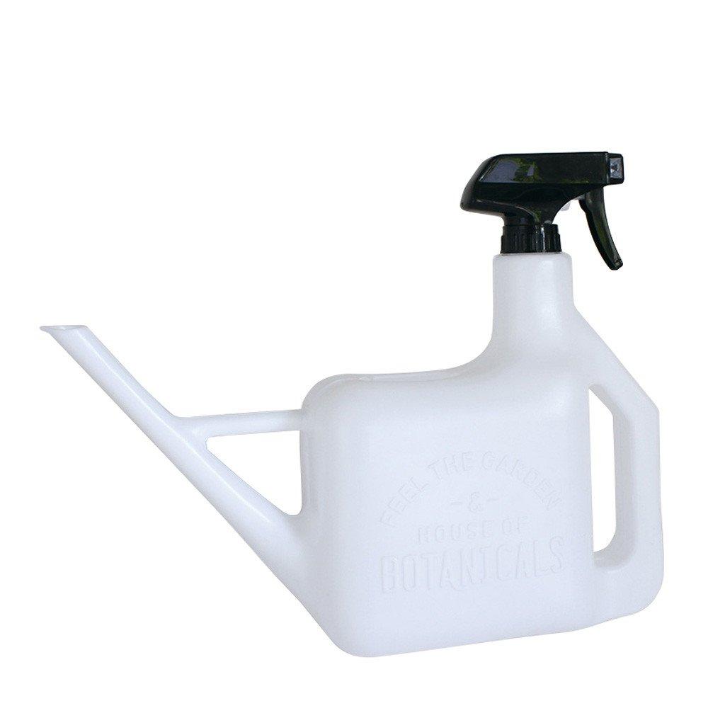 Time Concept Multipurpose Spray Bottle - Watering Pot and Sprinkler - White