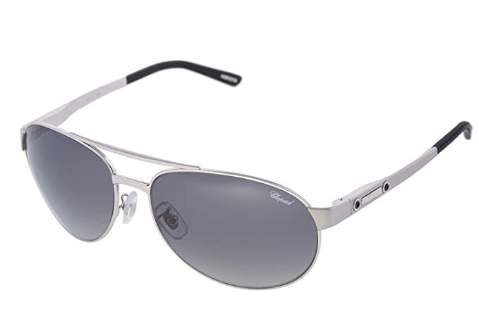 b46bc84ccd2 Image Unavailable. Image not available for. Colour  CHOPARD SCH 932 628Z  Men 23KT GP Silver Frame Polarized Aviator Sunglasses