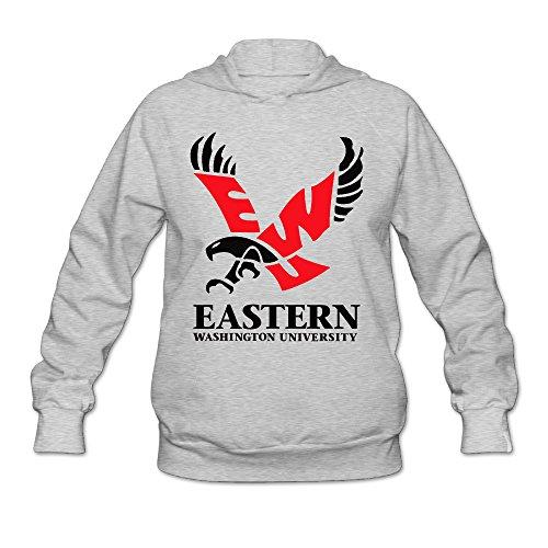 [AK79 Women's Sweater Eastern Washington University Size XL Ash] (Brad Pitt Costume Ideas)