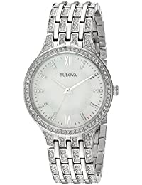 Womens 96L242 Swarovski Crystal Stainless Steel Watch