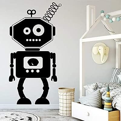 yaoxingfu Robot de Dibujos Animados Arte de la Pared Calcomanía ...