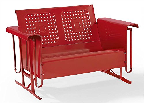 Crosley Furniture Bates Loveseat Glider - Red