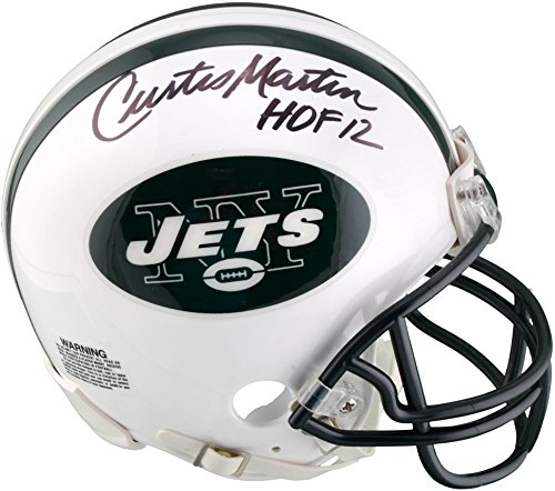 Curtis Martin New York Jets Autographed Riddell Mini Helmet with