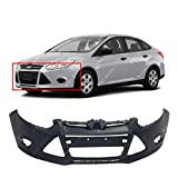 12 ford focus - MBI AUTO - Primered, Front Bumper Cover Fascia for 2012 2013 2014 Ford Focus Sedan / Hatchback 12 13 14, FO1000664