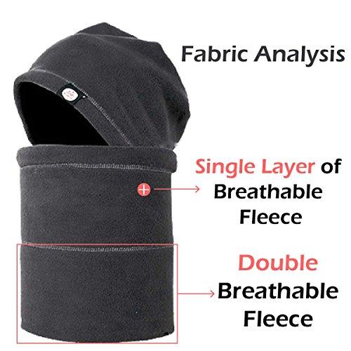 d53b0930b TRIWONDER Balaclava Hood Hat Thermal Fleece Face Mask Neck - Import ...