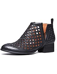 Jeffrey Campbell Taggart Black Black Womens Pointed Toe Cutout Bootie