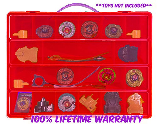 Beyblades Carrying Case - Stores Dozens Of Battle Spinners -