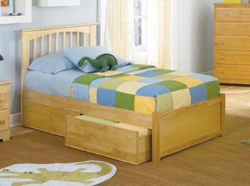 Atlantic Furniture Brooklyn w/Flat Panel Natural Maple/Queen ()
