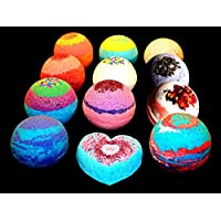 Bath Bombs - 4 pack FIZZY - 4.5 ounce BATH BOMB - Organic Colorful Mix and Match