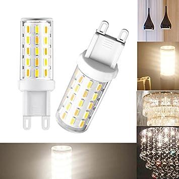 PerGrate Bombilla LED G9 de 3 W sin parpadeo, luz blanca cálida, 60 x 4014 AC 100 - 240 V SMD (5 unidades): Amazon.es: Deportes y aire libre
