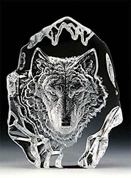VG Engraved Lead Crystal – Wolf Head