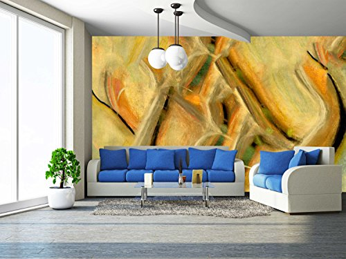 - wall26 - Very Interesting Original Pastel Painting on Paper - Removable Wall Mural | Self-adhesive Large Wallpaper - 66x96 inches