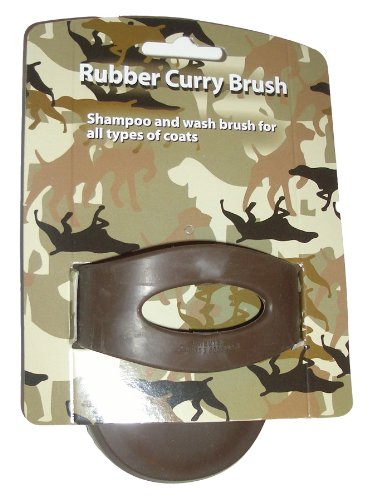 Enrych Rubber Curry Pet Brush, Camouflage