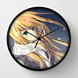 Ore No Imouto Ga Konnani Kawaii Wake Ga Nai Kousaka Kirino Girl Snow Winter Snowflakes Scarf Black Frame 10 Inch Wall Decoration Wall Clock