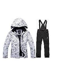 SunFlower666 Women and Men's High Waterproof Windproof Snowboard Ski Jacket Pants…
