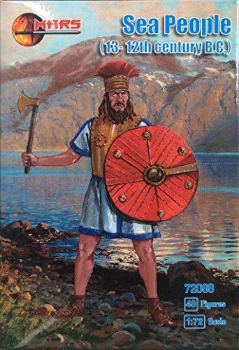 MARS72088 マースフィギュア 1/72紀元前12世紀・地中海・海の民(40体)
