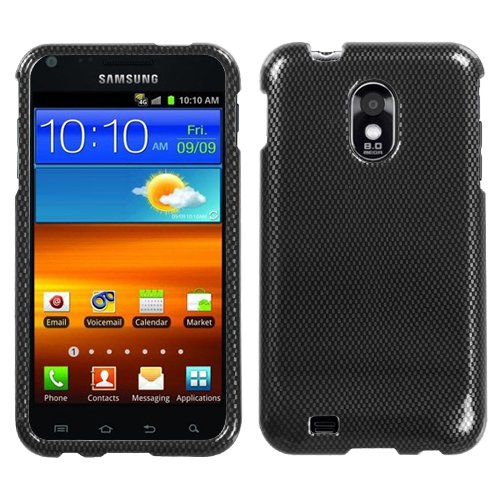 MYBAT SAMD710HPCIM003NP Compact and Durable Protective Cover for Samsung Galaxy S2/Epic 4G Touch - 1 Pack - Retail Packaging - Carbon Fiber (Faceplate Protector Carbon Fiber)