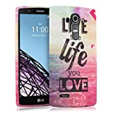 kwmobile TPU SILICONE CASE for LG G4 Design Live the Life multicolor dark pink blue - Stylish designer case made of premium soft TPU