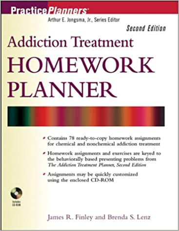 Amazon.com: Addiction Treatment Homework Planner (PracticePlanners ...